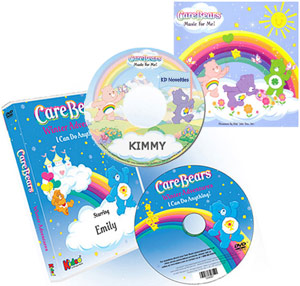Care Bears Winter Adventures Personalized DVD and Music Personalized Children's Photo DVD