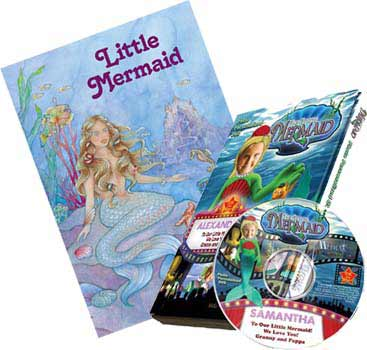 Little Mermaid Personalized Book and DVD Personalized Children's Photo DVD