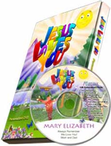 Jesus Loves You Personalized Children's Photo DVD