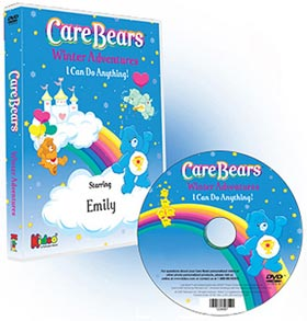 Care Bears Winter Adventures Personalized Children's Photo DVD
